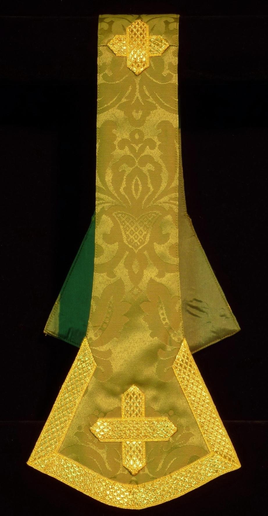 Manípulo, tela de damasco