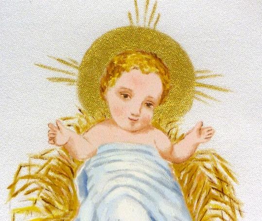 Niño Jesús pintado