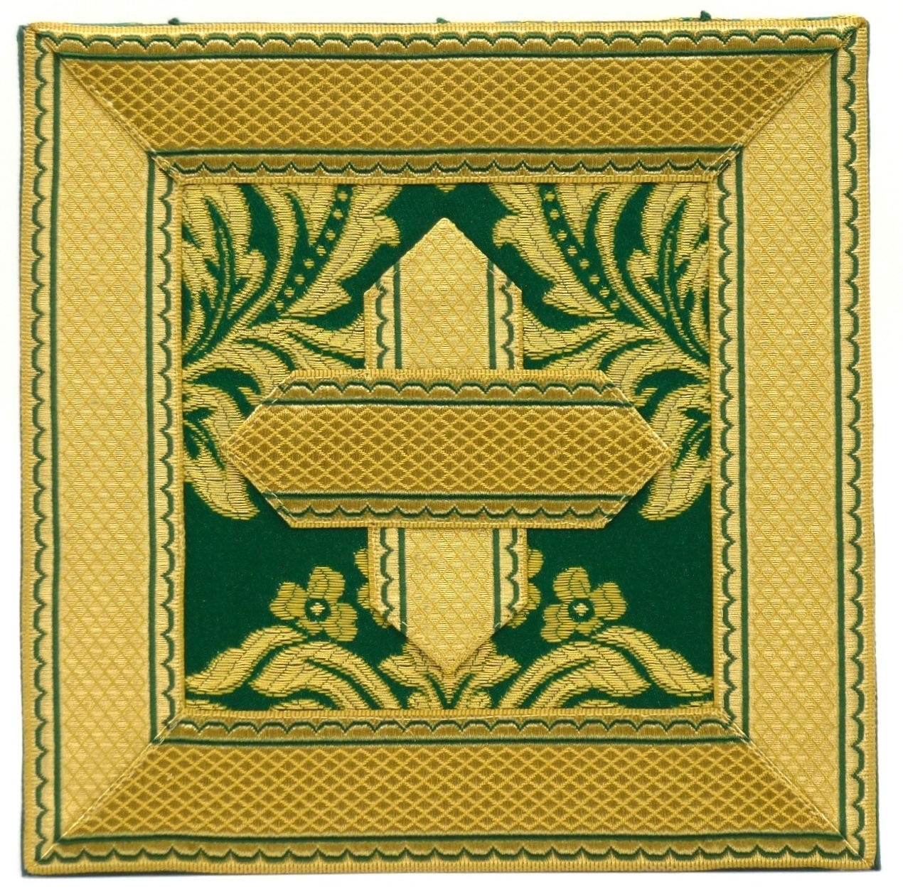Carpeta o bolsa de corporales verde