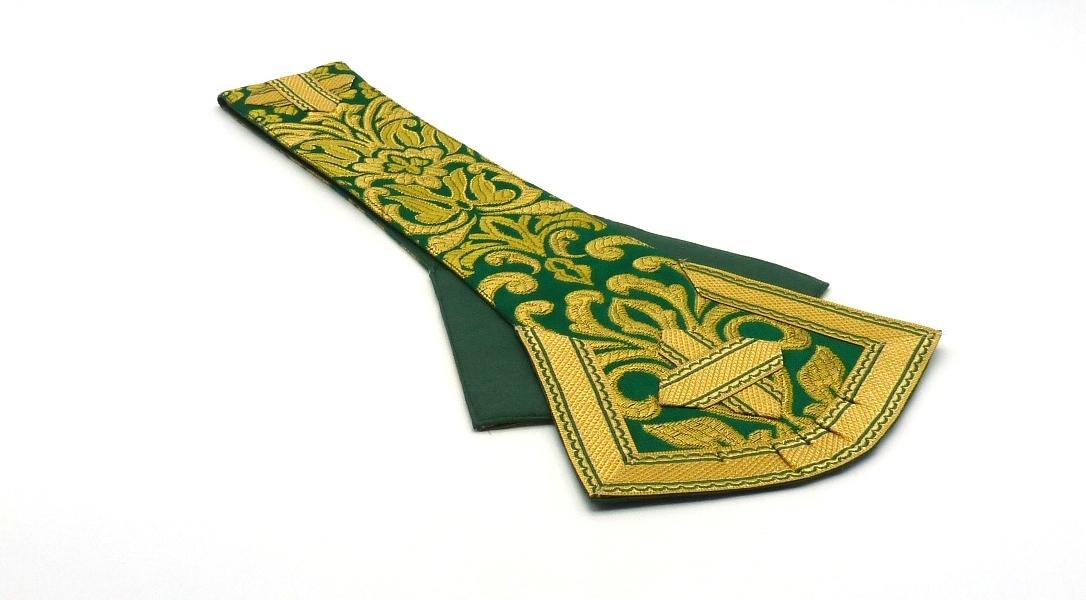 Manípulo verde de palas