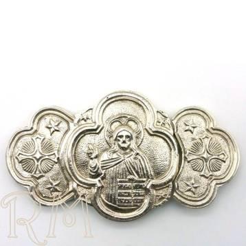 Broche de metal fundido con baño de plata