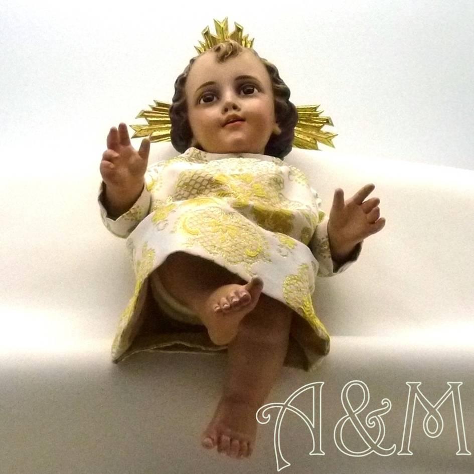 Vestido para imagen de Niño Jesús