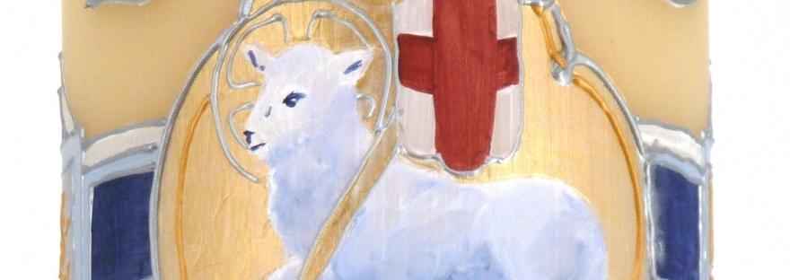 Cirio Pascual pintado a mano