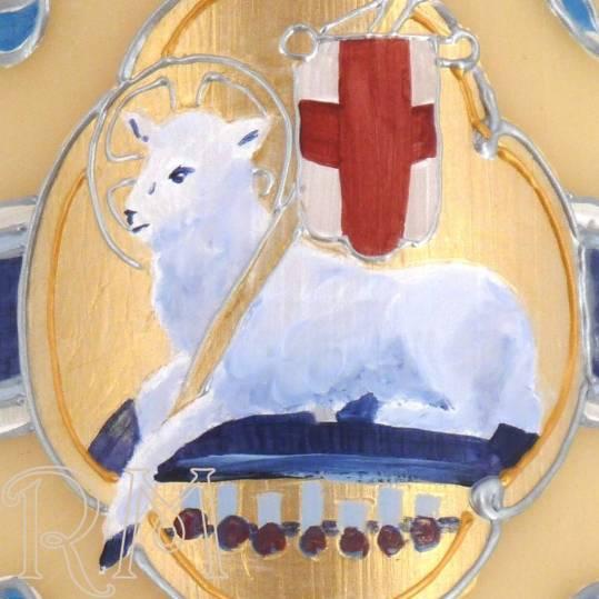Cirio Pascual 2020 pintado a mano