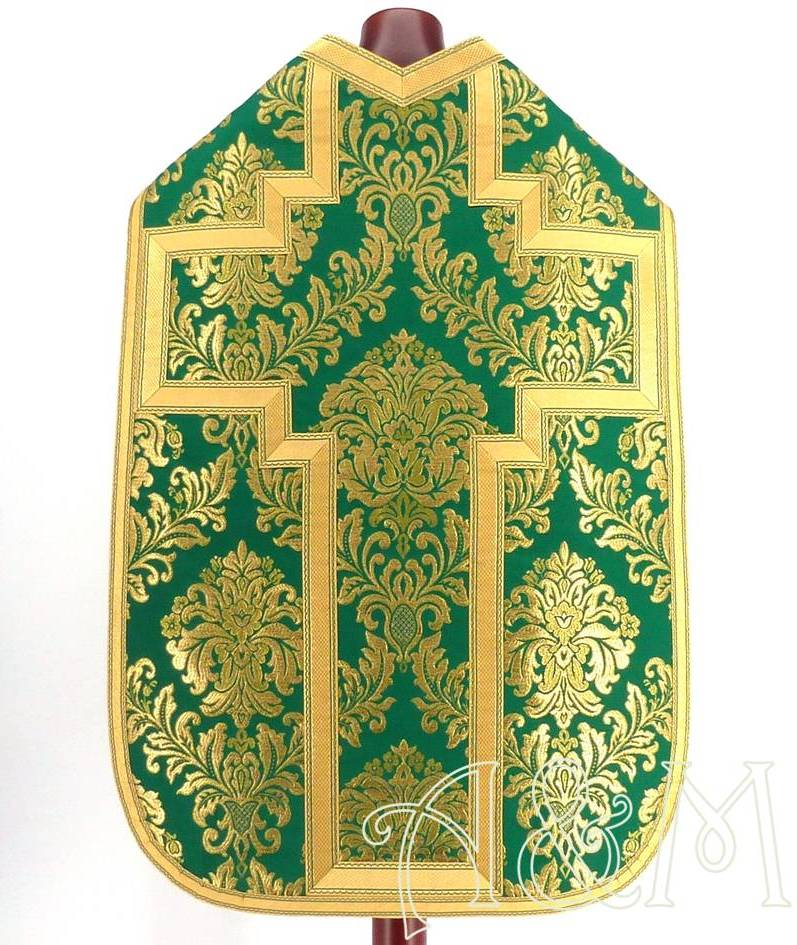 casulla romana francesa verde