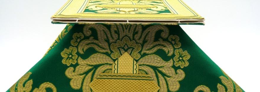 Carpeta de corporales y velo de cáliz verdes