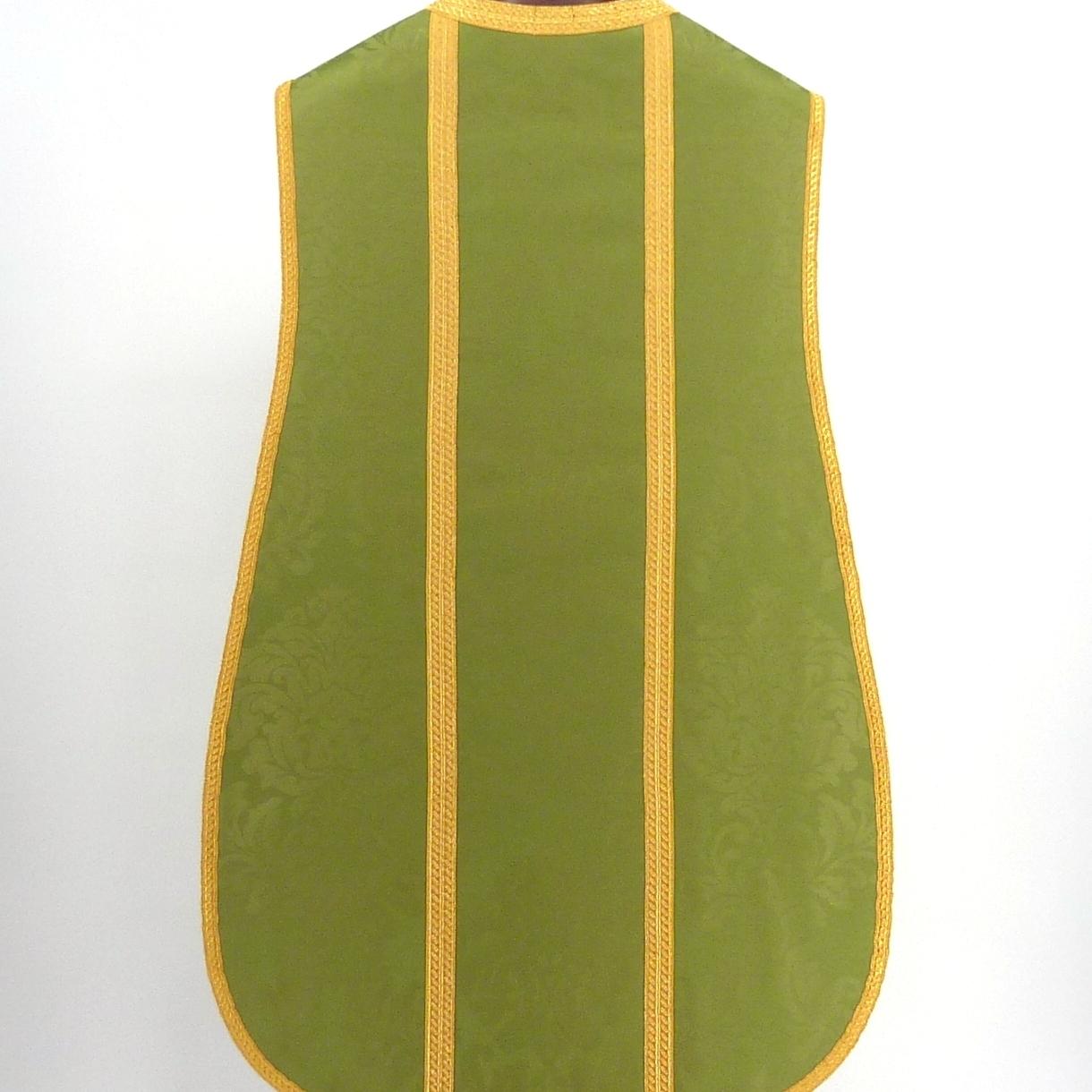 Casulla verde, espalda